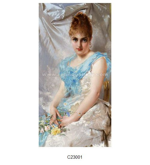 Vittorio Matteo Corcos Paintings Wholesale Oil Painting