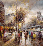 wholesale Parist Streetscape, oil painting reproductions china wholesale