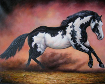 custom horse painting from photo