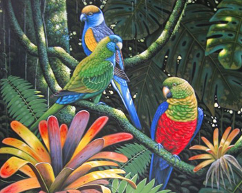parrot painting from photo