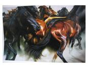 horse painting from photo II