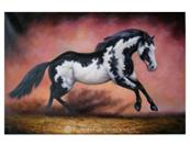 horse painting from photo VI