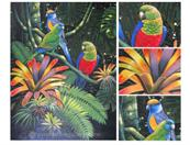 parrot painting from photo VI