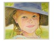 pastel portrait painting from photo I