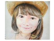 pastel portrait painting from photo III