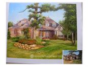 villa painting from photo VI