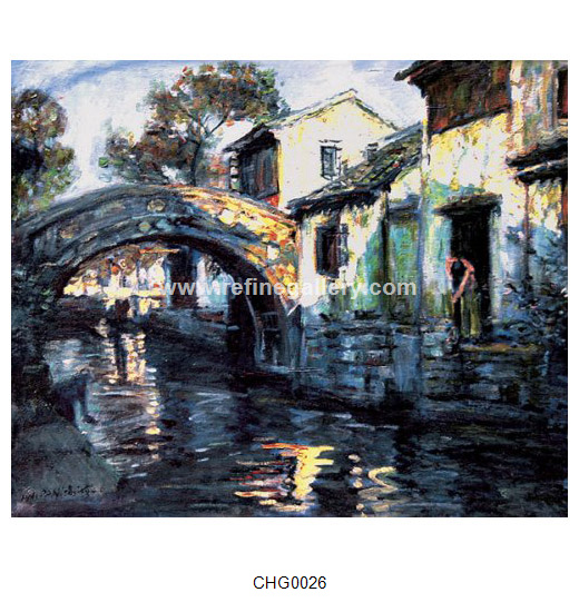 Chinese Water Towns Paintings Wholesale Oil Painting